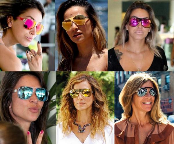 ab743d538a4af Óculos espelhados estão no foco da moda de verão. « Blog da Ligadinha